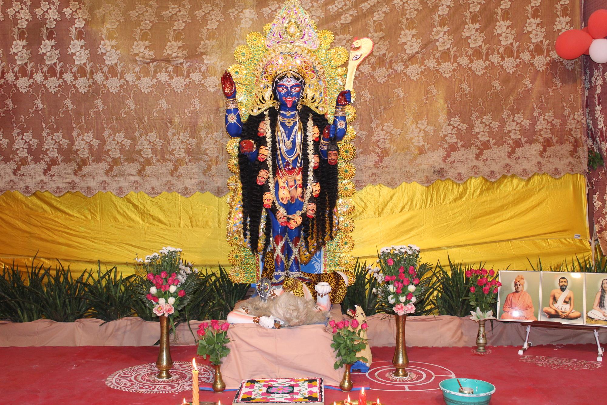 Mother Kali at Sri Sri Kali Puja at Ramakrishna Mission Ashrama, Kanpur